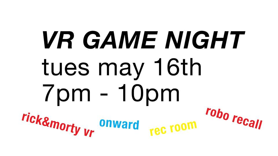 DUVR Presents: VR Arcade Night Open House