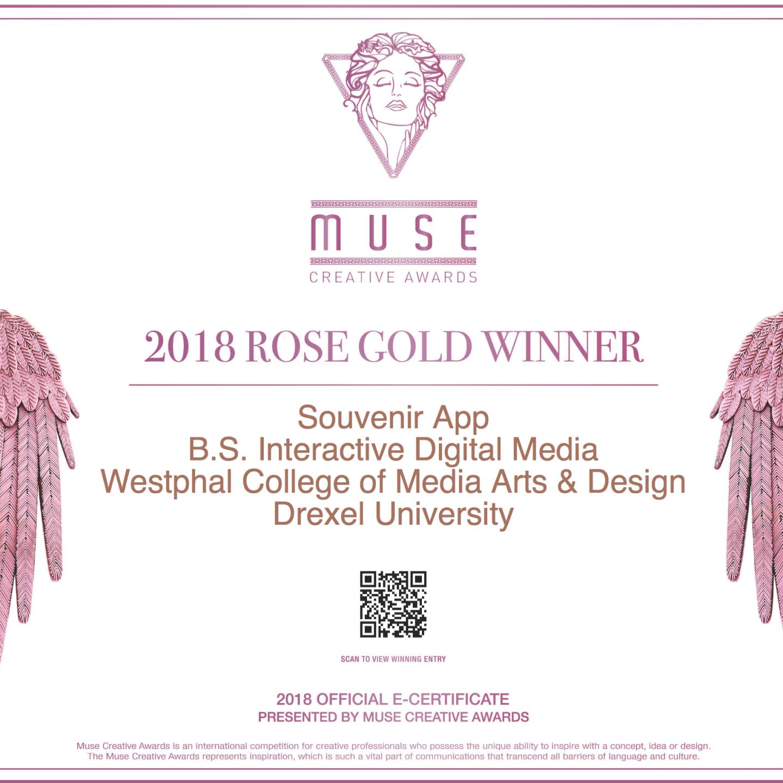 Souvinear Wins 2018 Muse Award