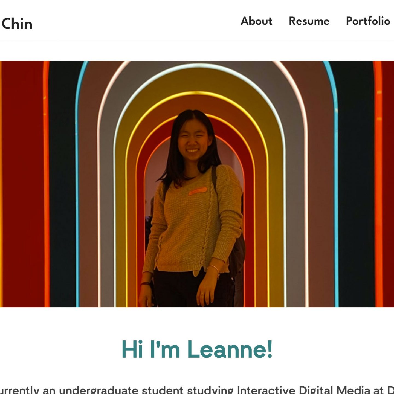 Responsive Portfolio: Leanne Chin