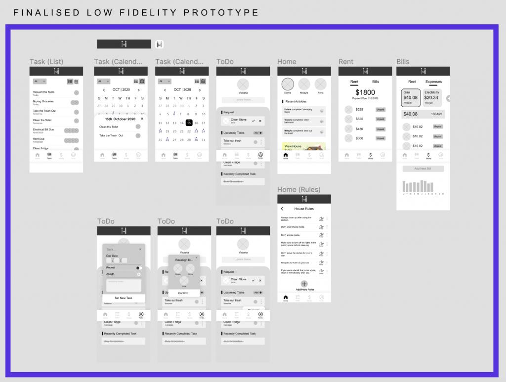 Low Fidelity Prototype